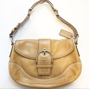 Coach Soho bag. Tan Leather with silver hardware.